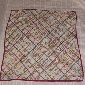 Coach bandana 100% silk
